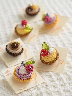 あみぐるみケーキ&タルトのタックピン